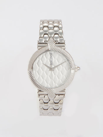 Carattere Silver Stainless Steel Watch