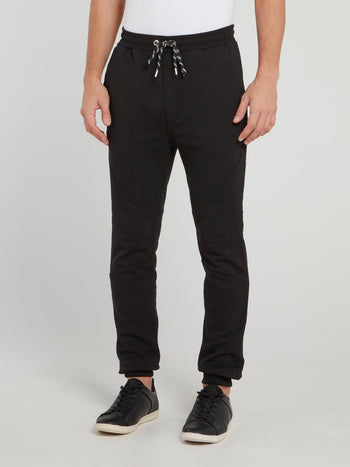 Black Drawstring Track Pants
