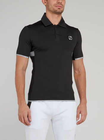 Grey Edge Statement Polo Shirt