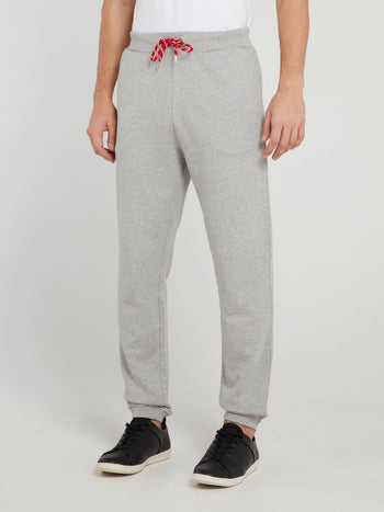 Grey Drawstring Logo Track Pants