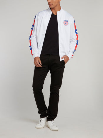 White USA Crest Acetate Sweatshirt