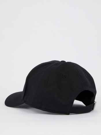 Black Logo Patch Adjustable Cap