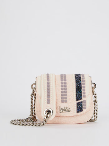 Powder Pink Mini Dafne Studs Shoulder Bag