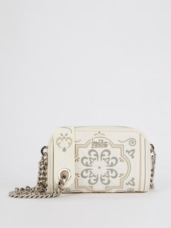 Beige Eliana Azulejos Shoulder Bag