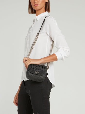 Black Mini Dafne Cesto Shoulder Bag