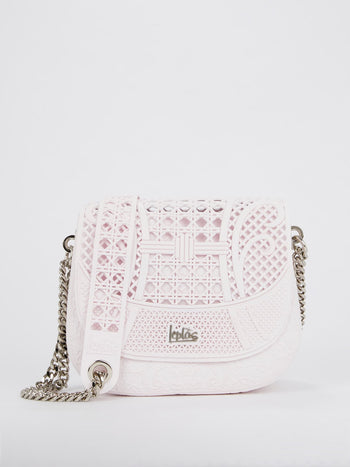 Light Pink Big Dafne Cesto Shoulder Bag