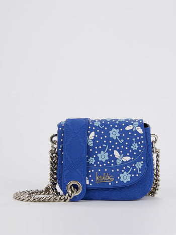 Blue Mini Dafne Bee Shoulder Bag