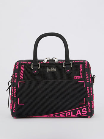 Black Medium Bauletto Sportswear Top Handle Bag