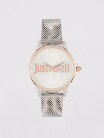 Silver Tone Milanese Dress Watch
