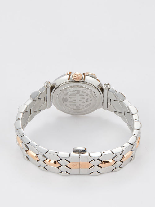 Roberto Cavalli by Franck Muller Two-Tone Snake Detail Dress Watch