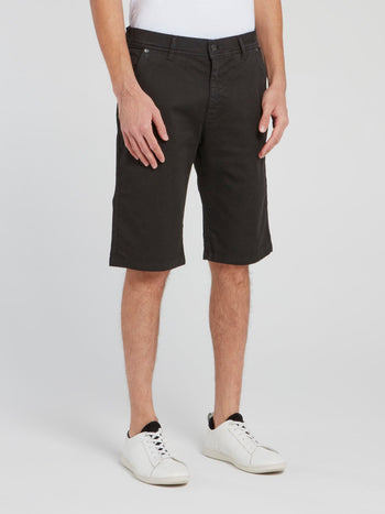 Black Straight Cut Shorts