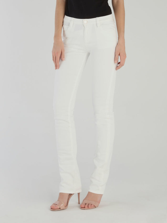 White Bootcut Cotton Pants