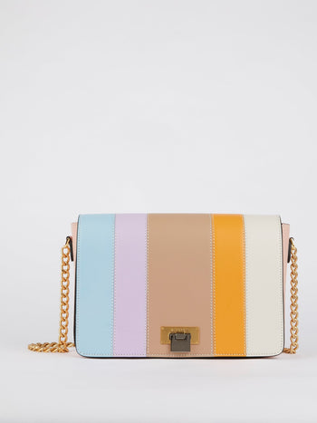 Nicole Multicolour Striped Leather Shoulder Bag