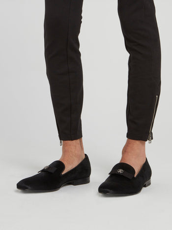 Black Pony Hair Loafers