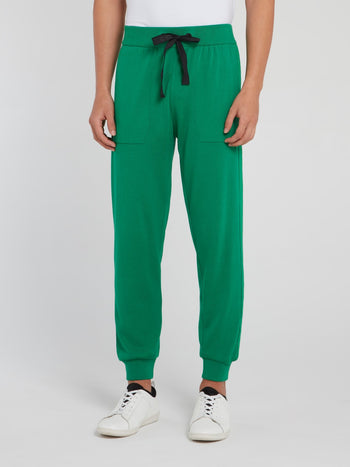 Green Knitted Track Pants