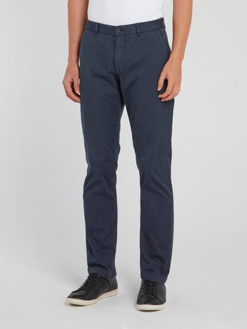 Navy Straight Cut Trousers