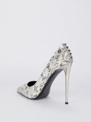 Python Effect Studded Pumps