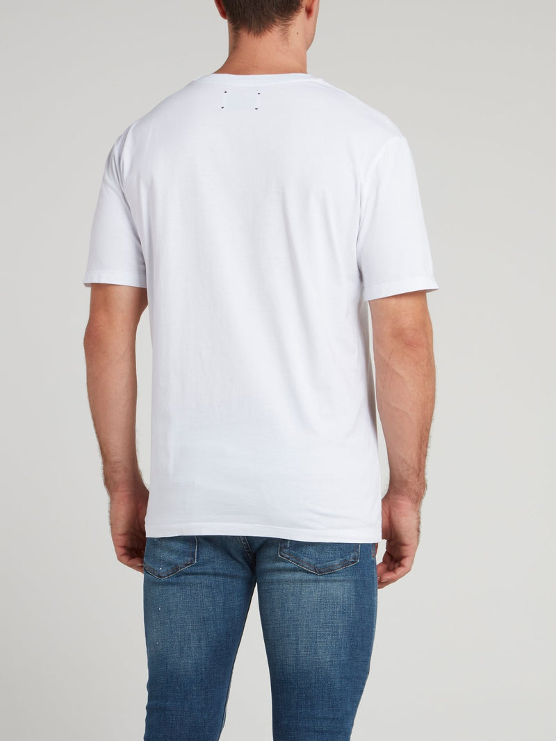 White Crewneck Logo T-Shirt