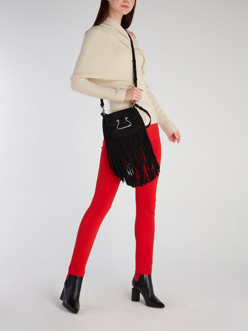 Red Viscose Skinny Jeans