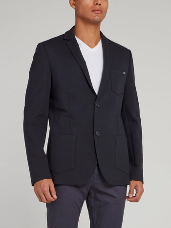 Navy Pocket Detail Blazer