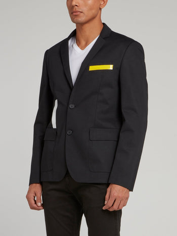 Black Panel Tape Blazer