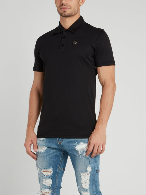 Black Logo Polo Shirt