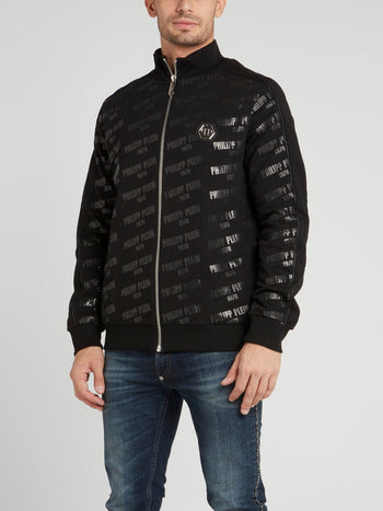 Monogram Print Skull Jogging Jacket