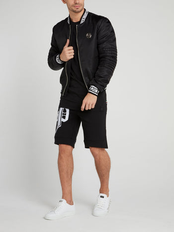 Black Logo Jogging Shorts