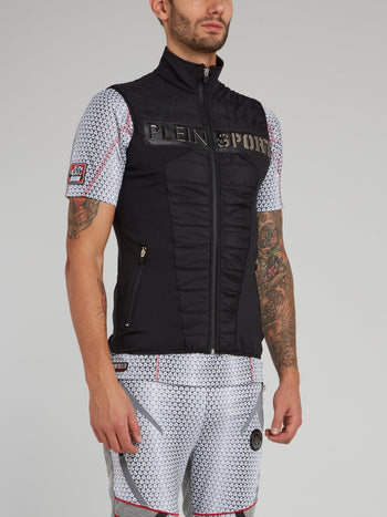 Black Quilted Jogging Vest
