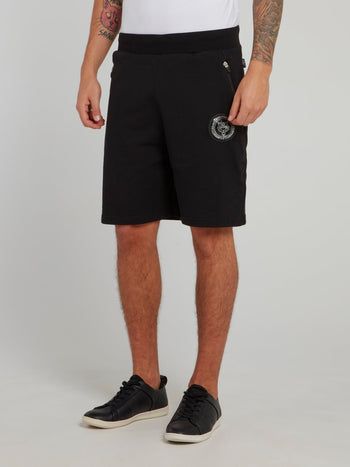 Ron Black Waistband Jogging Shorts