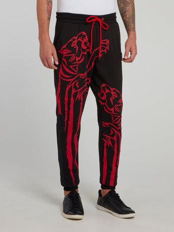 Theta Tiger Print Jogging Trousers