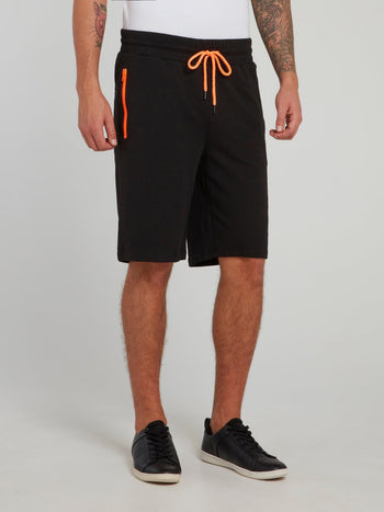 Murray Orange Panel Jogging Shorts