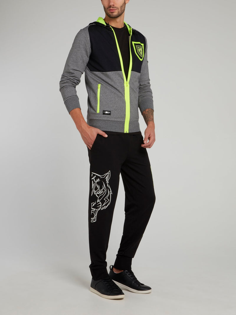 Richard Neon Green Panel Jogging Trousers