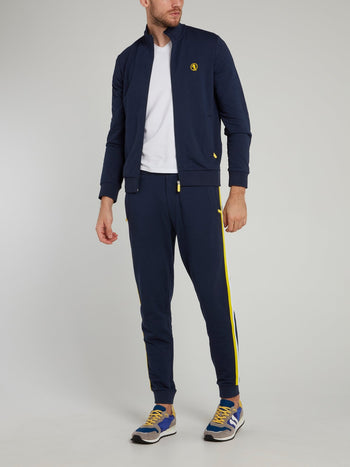 Navy Side Stripe Fleece Pants