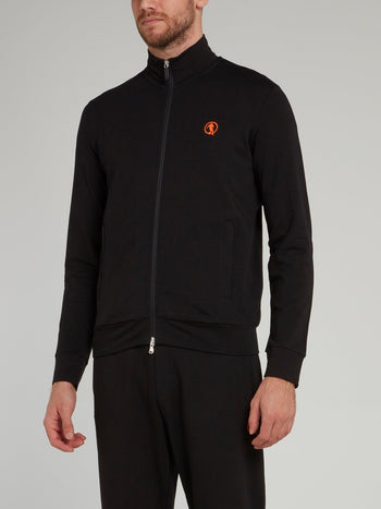 Black Sport Icon Zip Up Jacket