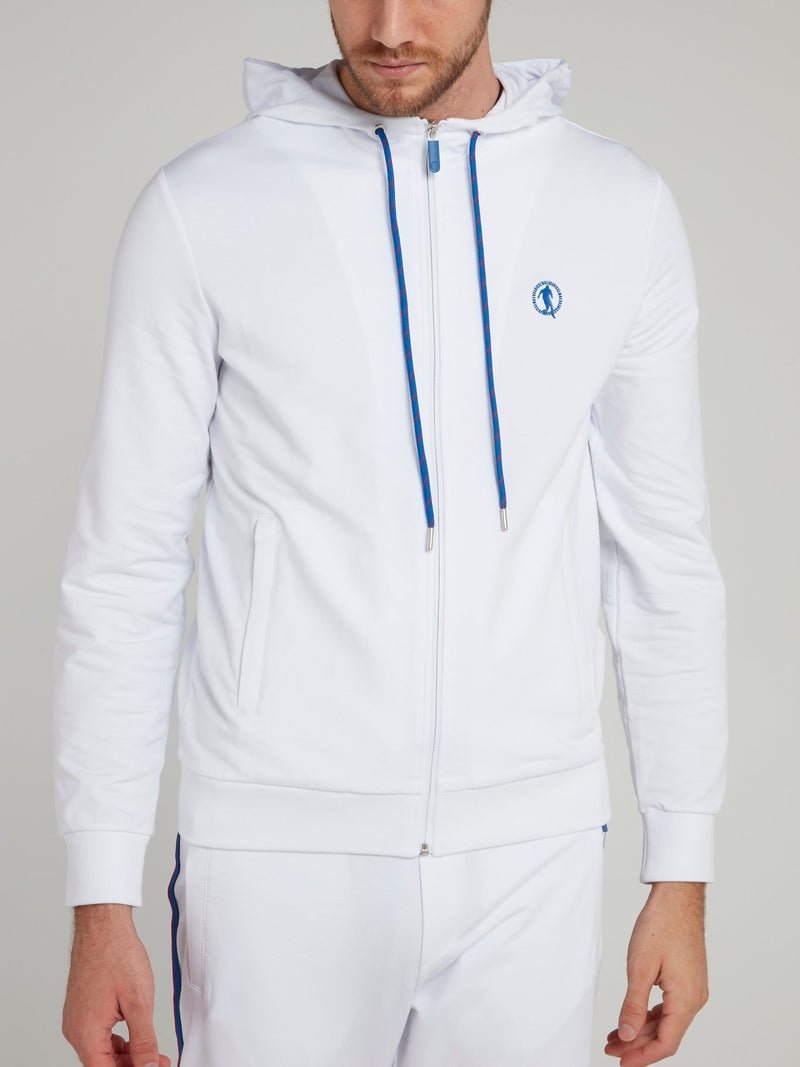 White Sport Icon Hooded Jacket