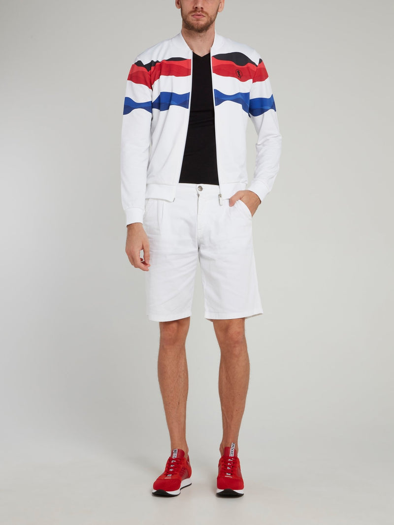 Tri-Colour Zip Up Jacket