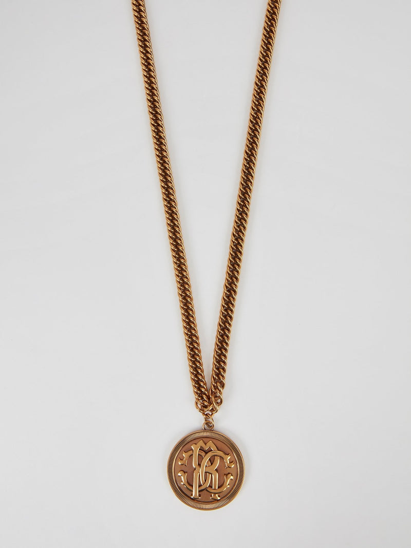 Podium Monogram Link Long Necklace