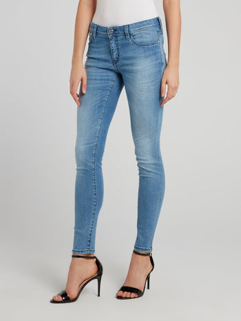 Blue Denim Skinny Jeans