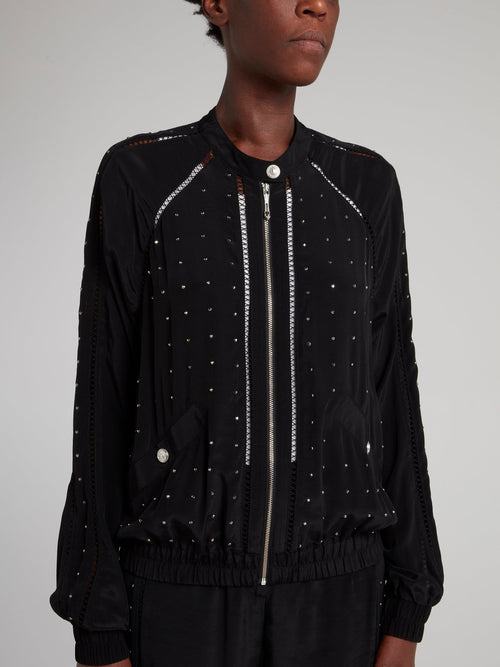 Black Studded Sports Jacket