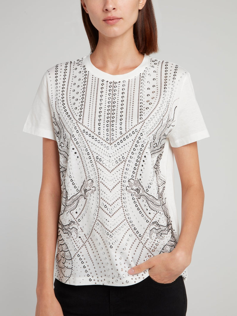 White Multi-Stud Shirt