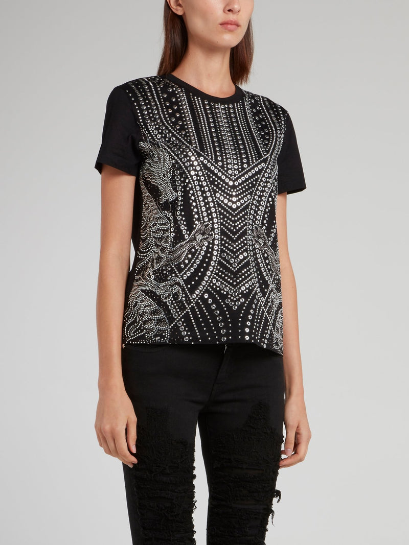 Black Multi-Stud Shirt