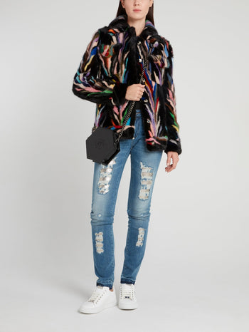 Multicoloured Fur Jacket