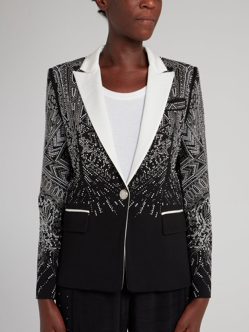 Black Multi-Stud Blazer