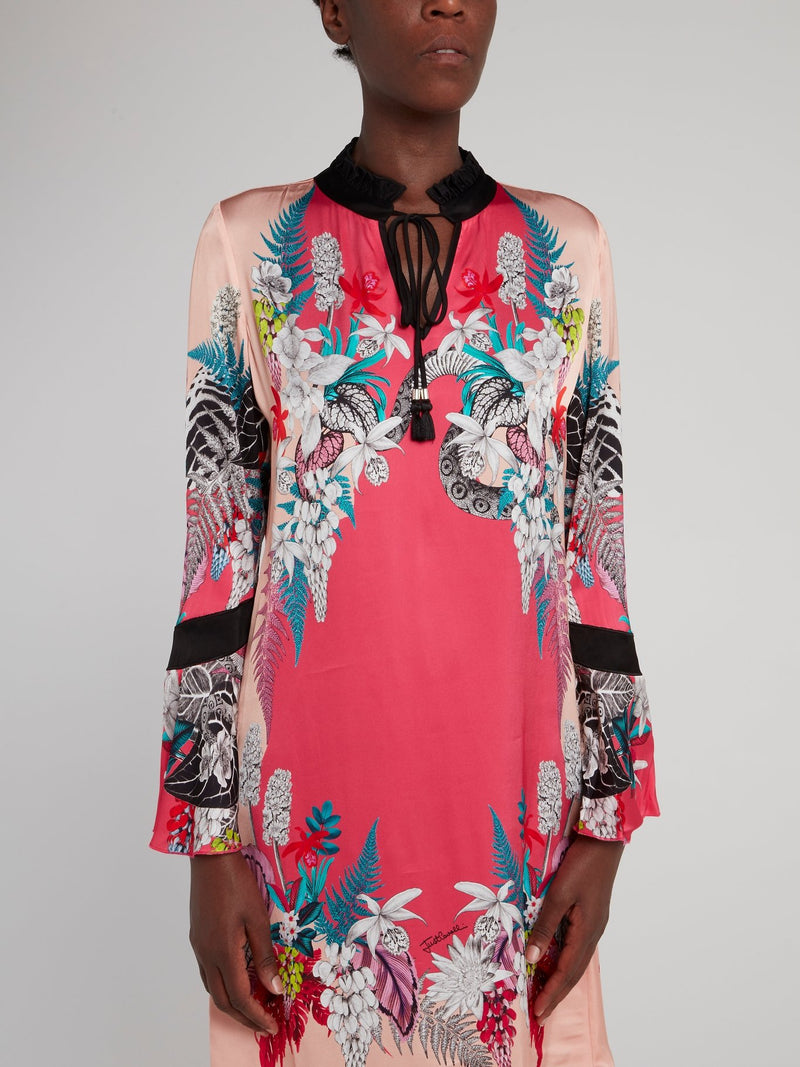 Pink Multi Floral Shift Dress