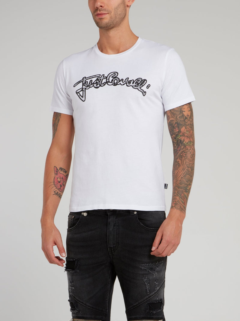 White Snake Effect Logo Shirt
