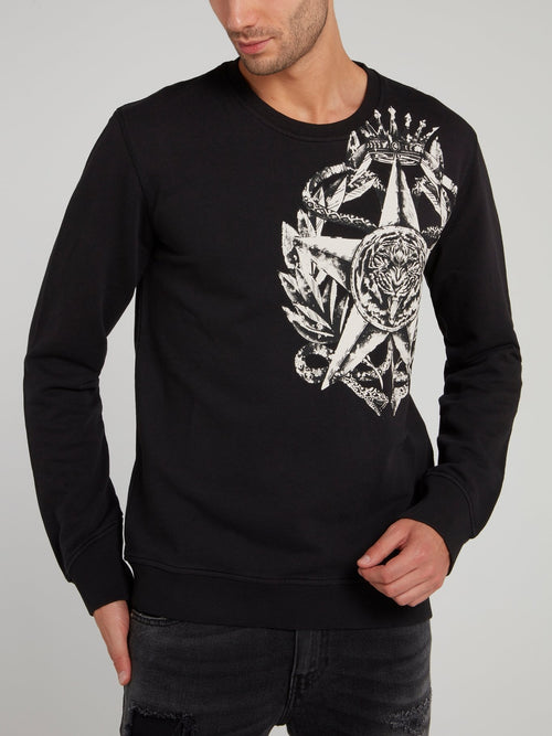 Black Tiger Star Sweatshirt