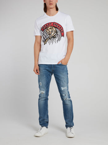 White Tiger Graphic T-Shirt