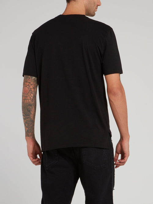 Black Logo Print Shirt