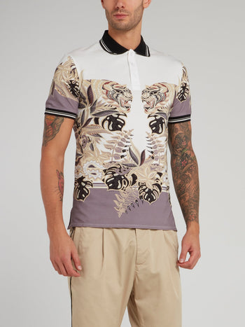 Jungle Print Polo Shirt